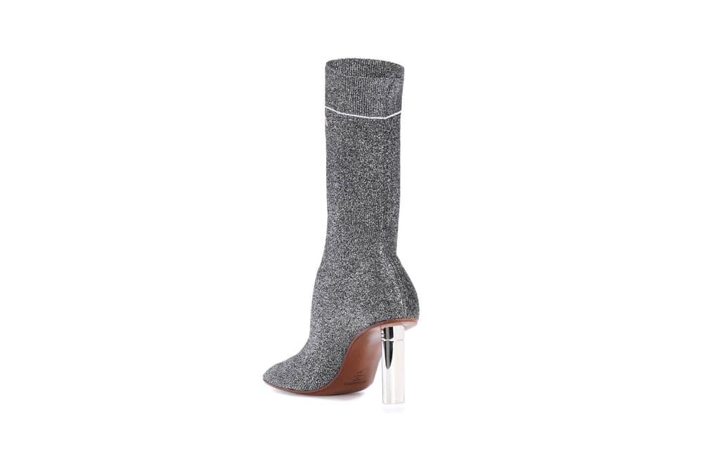 Vetements Lighter Heel Sock Ankle Boots Silver