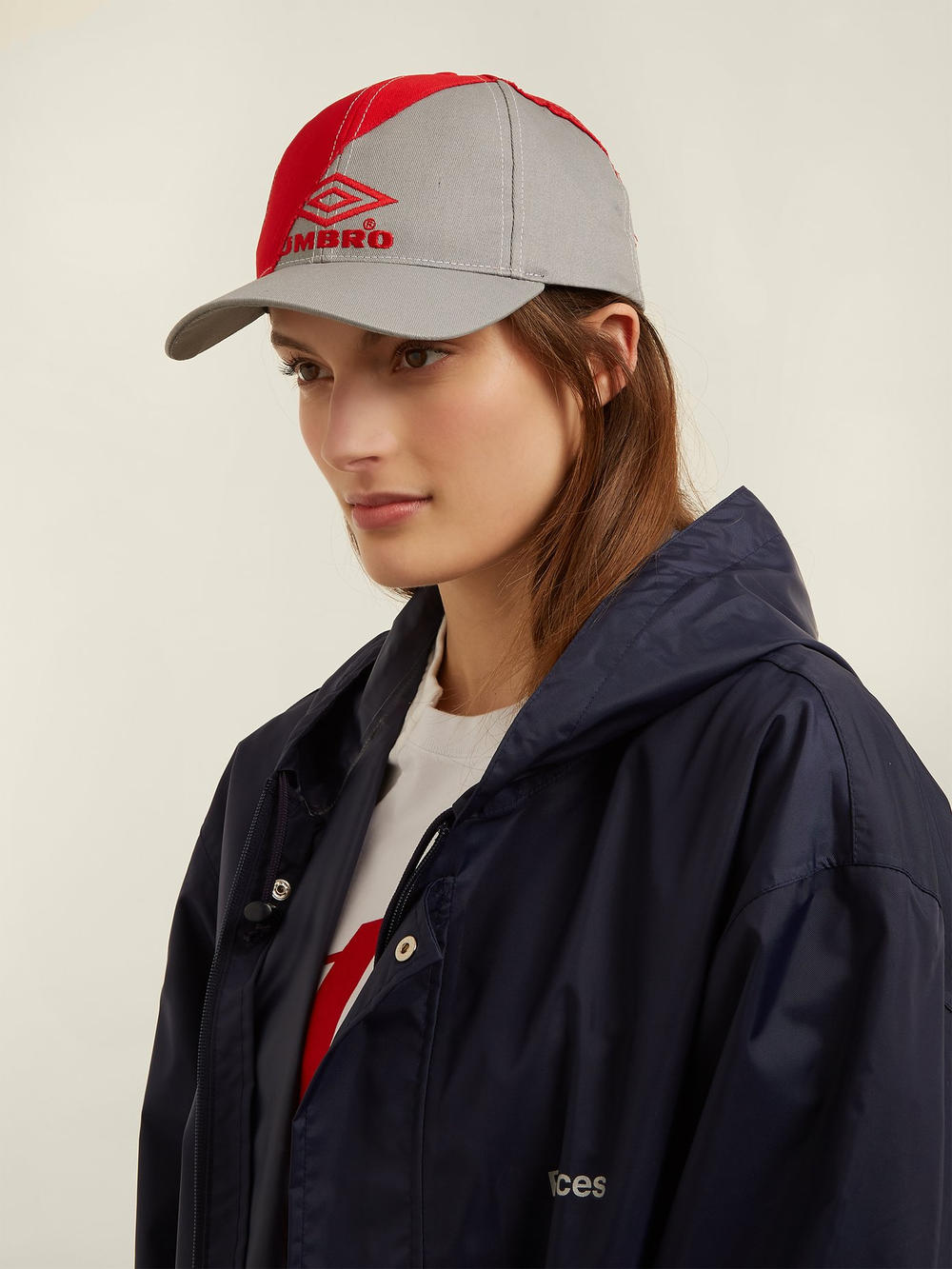 Vetements & Umbro Red and Grey Baseball Cap Demna Gvasalia Sportwear