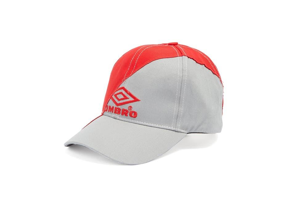 Vetements & Umbro Red and Grey Baseball Cap Demna Gvasalia Sportwear