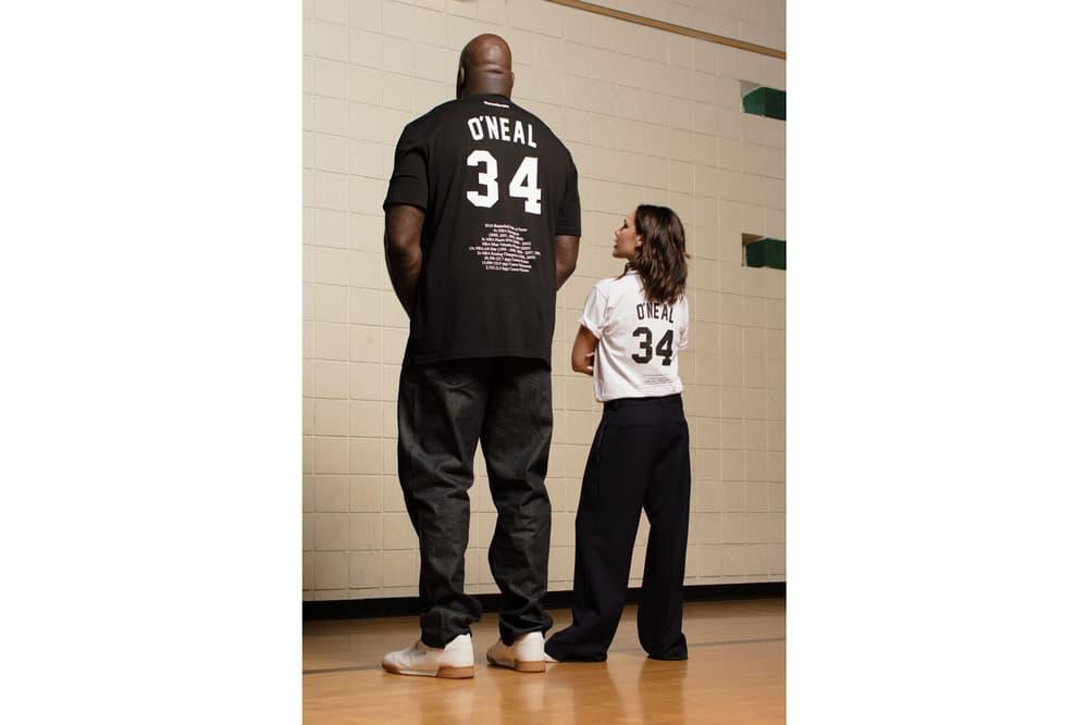 Victoria Beckham Shaquille O'Neal Reebok Merch Collection T-Shirt Black White