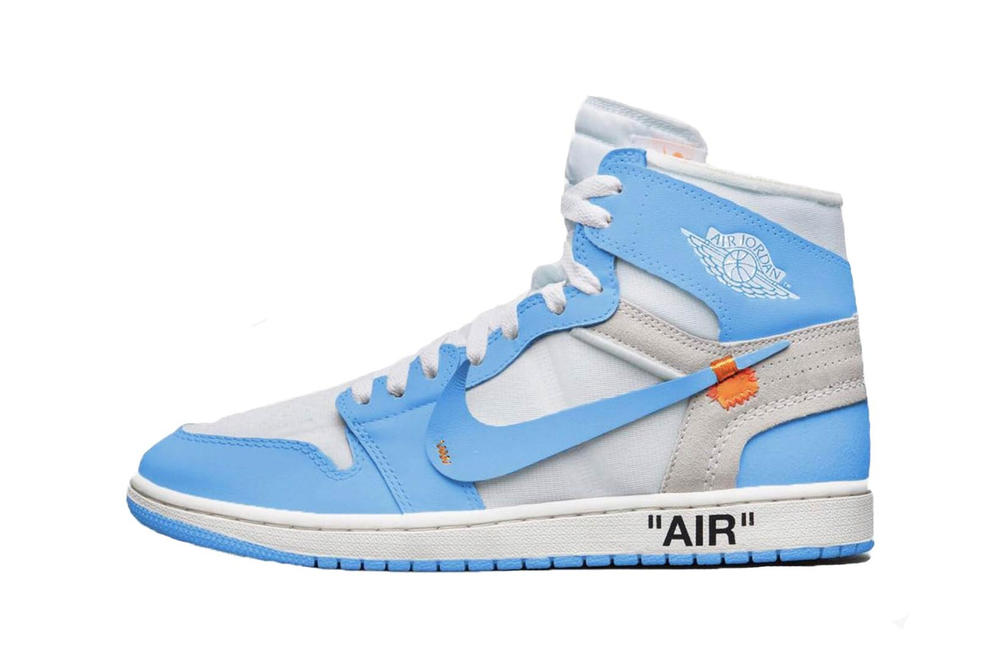 b39fbb071d279 Virgil Abloh x Air Jordan 1 UNC White Cone Dark Powder Blue
