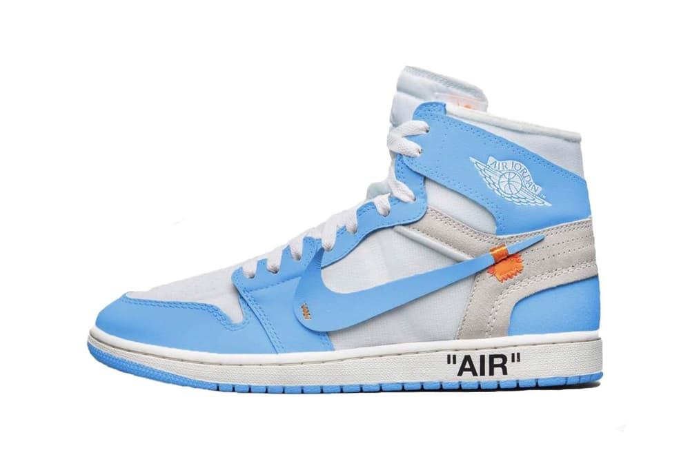 Virgil Abloh x Air Jordan 1 UNC White Cone Dark Powder Blue