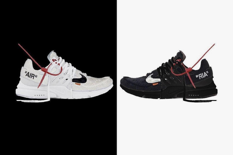f604041af415 Virgil Abloh x Nike Air Presto Black and White Sneaker Release First Look  Off-White
