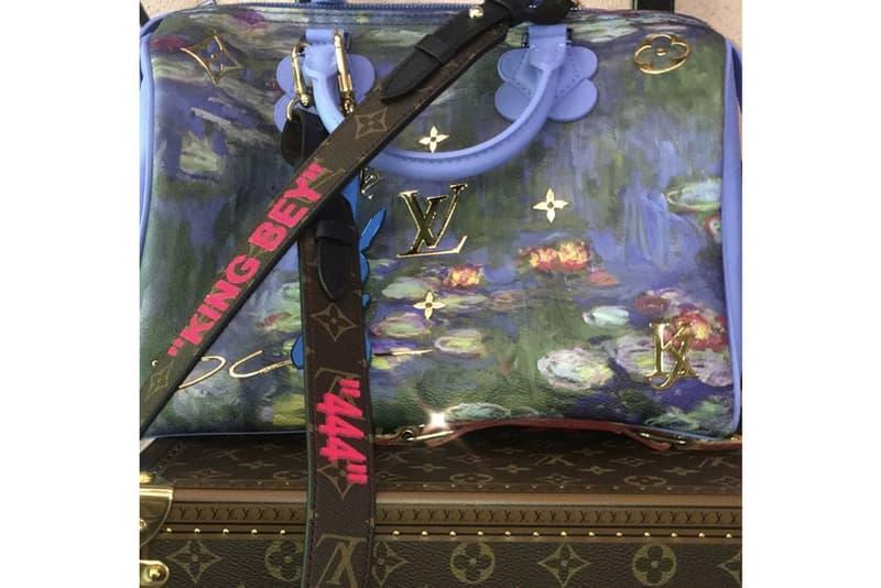 Beyonce Virgil Abloh Jeff Koons Louis Vuitton Custom Bag