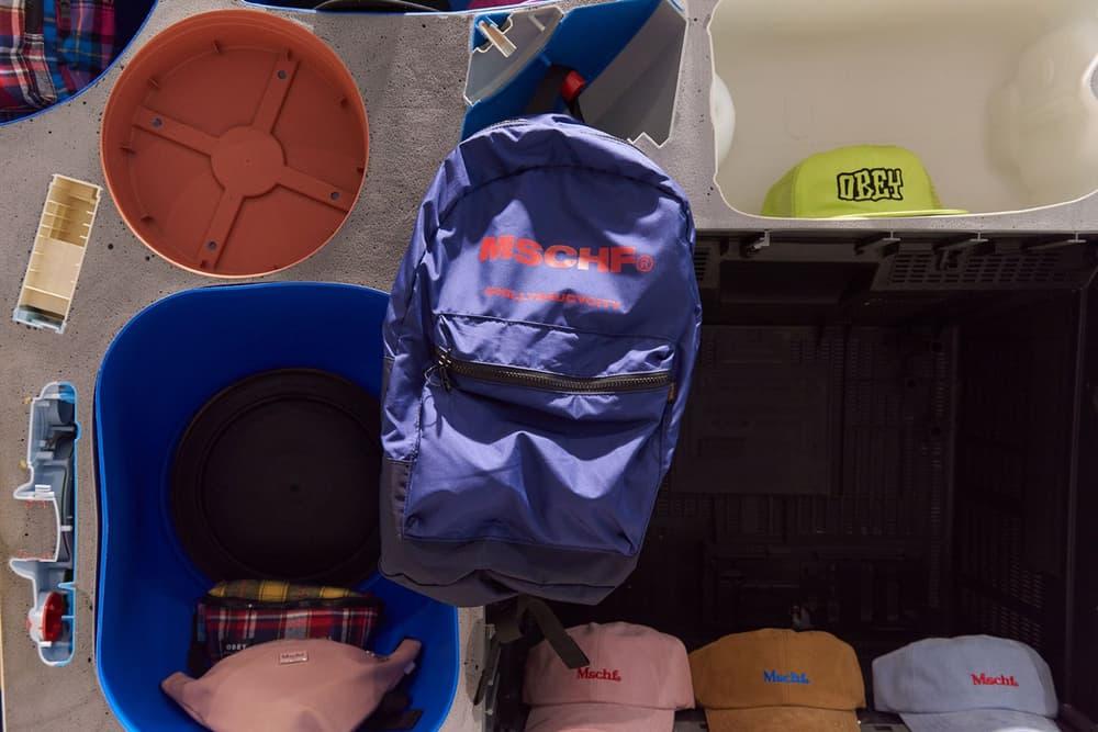 worksout hongdae seoul select shop streetwear collaborations backpack bags blue red purple