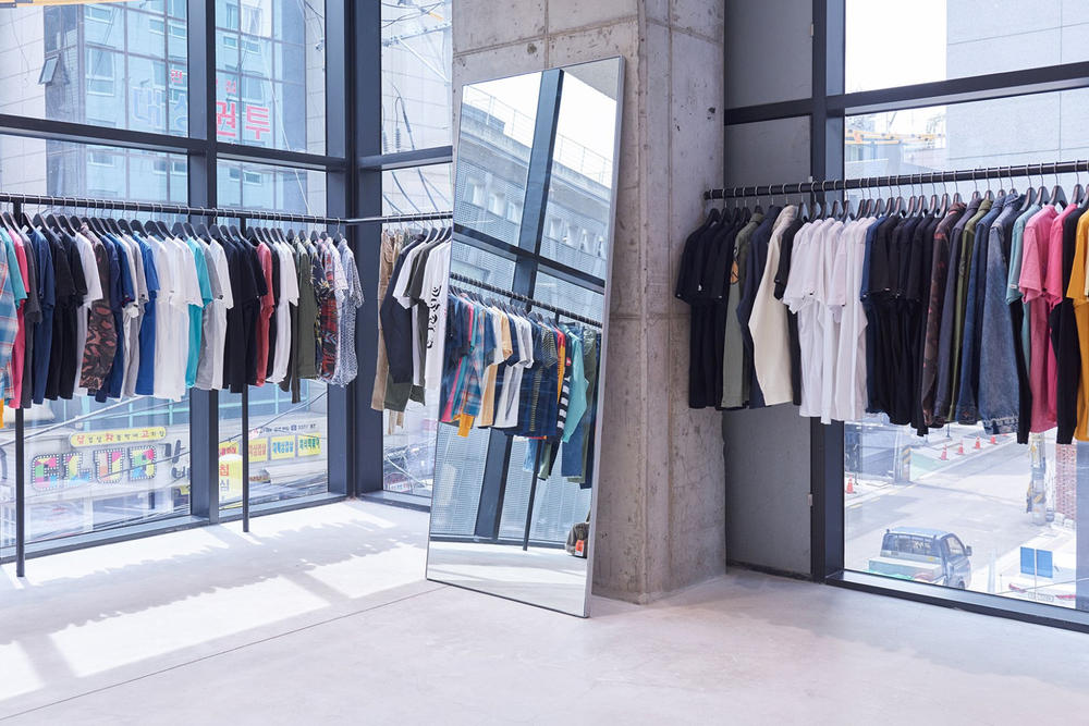 worksout hongdae seoul select shop streetwear collaborations mirror concrete