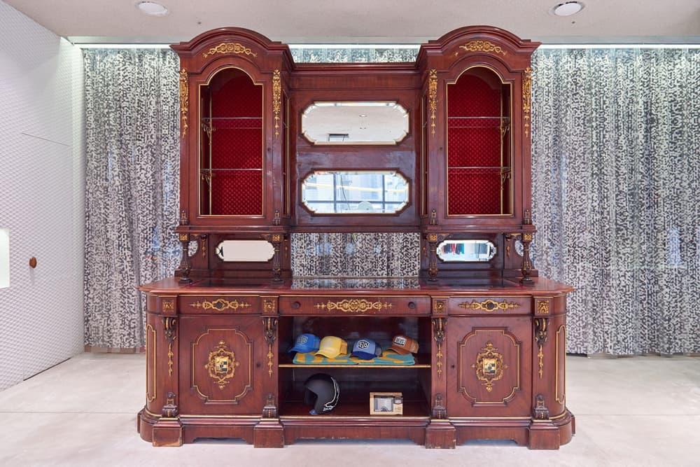worksout hongdae seoul select shop streetwear collaborations armoire wood mirror vintage