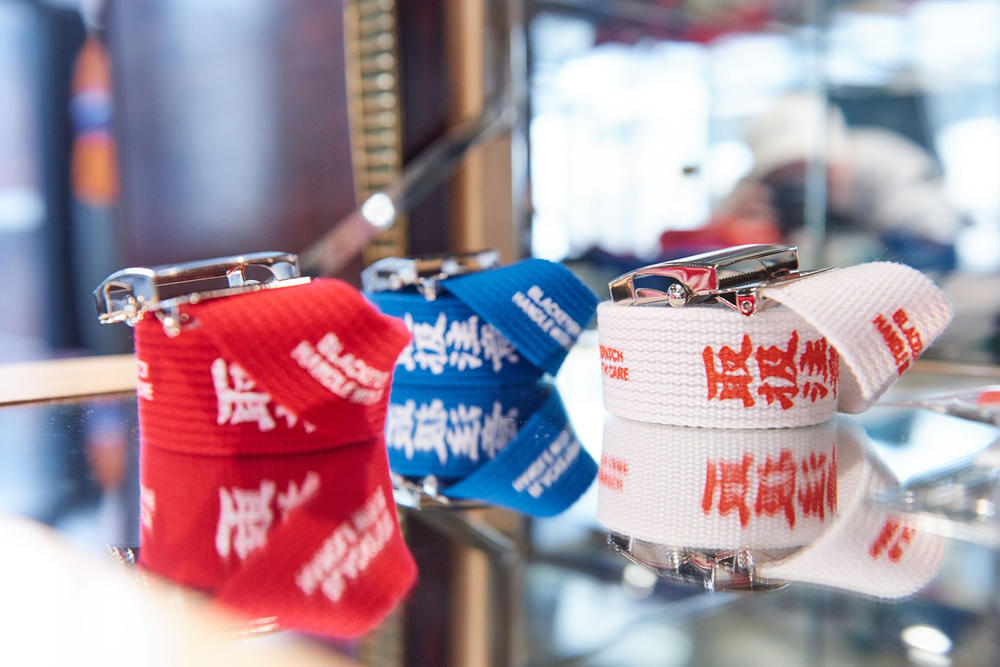 worksout hongdae seoul select shop streetwear collaborations belts red white blue mirror