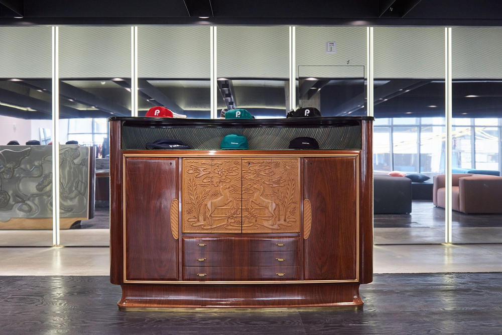 worksout hongdae seoul select shop streetwear collaborations armoire wood interior design