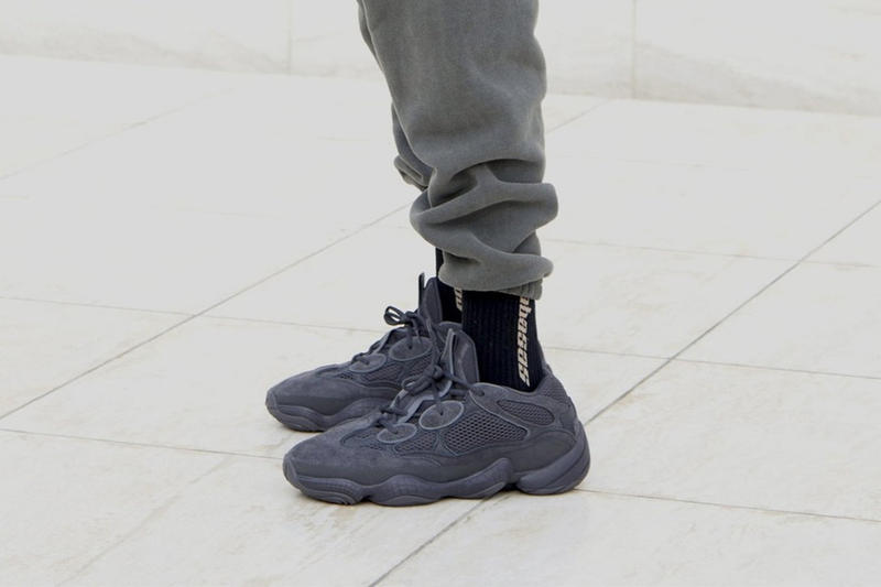 650a0bcbb Kanye West adidas YEEZY 500 Utility Black On Foot