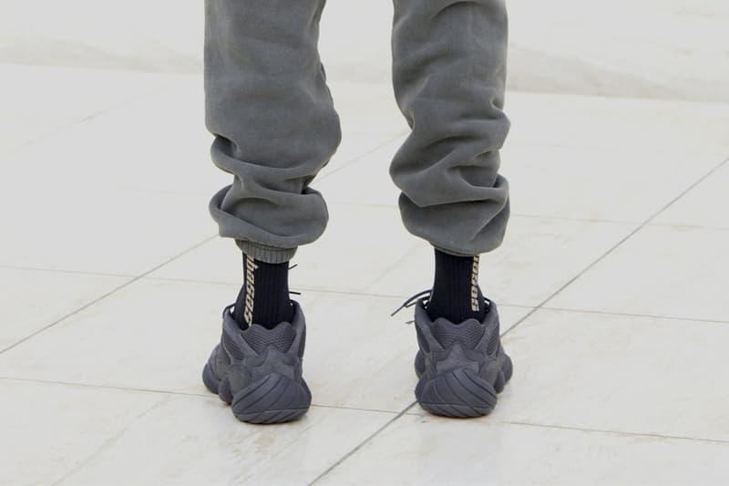 Kanye West adidas YEEZY 500 Utility Black On Foot