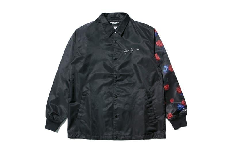 yohji yamamoto new era collaboration skull rose coach jacket black