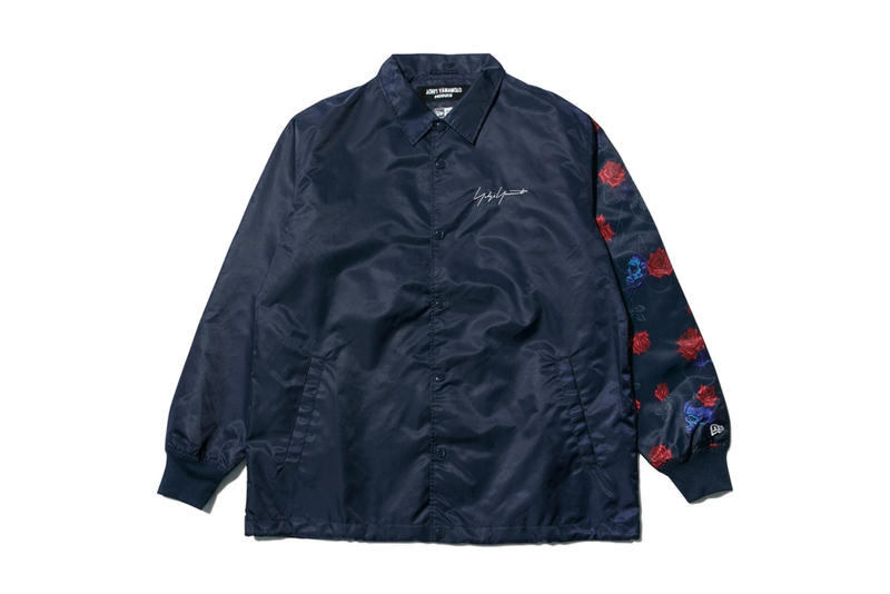 yohji yamamoto new era collaboration skull rose coach jacket navy
