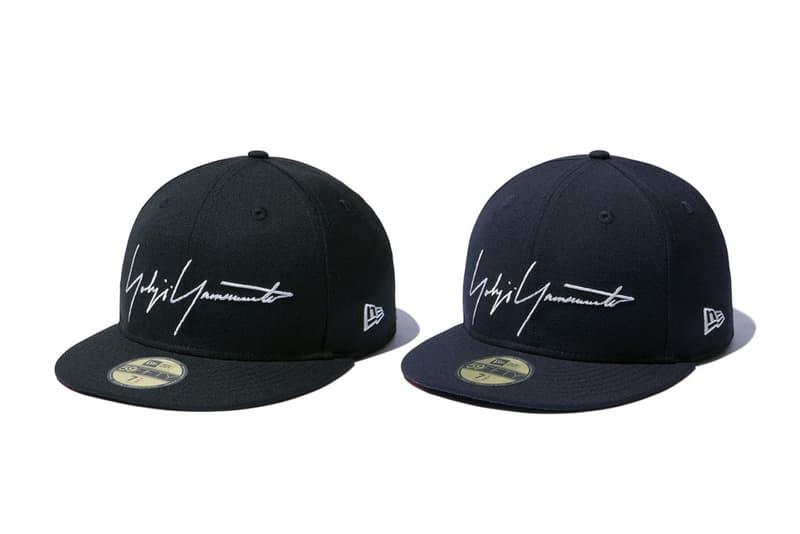 yohji yamamoto new era collaboration skull rose cap black navy signature logo