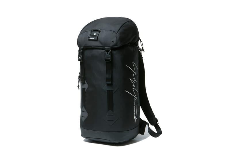 yohji yamamoto new era collaboration skull rose black backpack