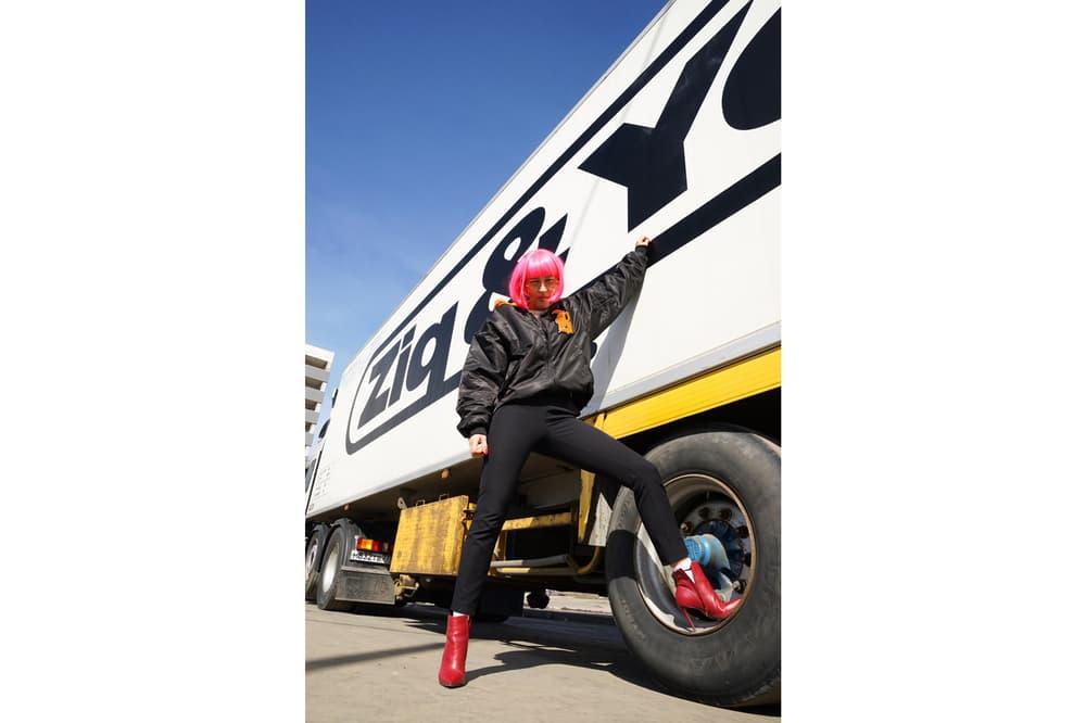 ZIQ&YONI Spring/Summer 2018 Lookbook Bomber Jacket Black Orange