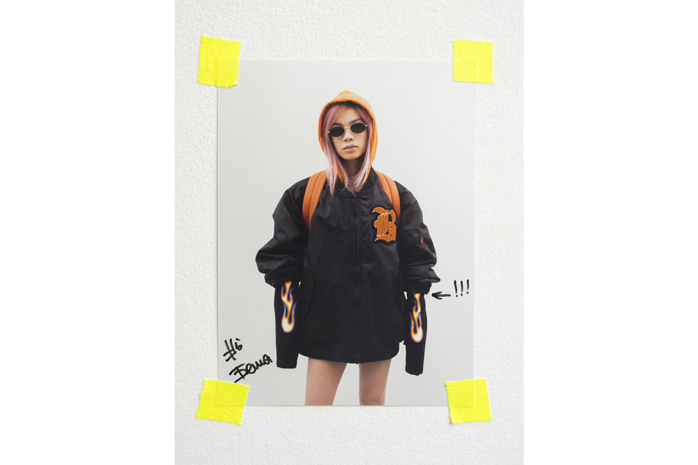 ZIQ&YONI Spring/Summer 2018 Lookbook Bomber Jacket Black Orange