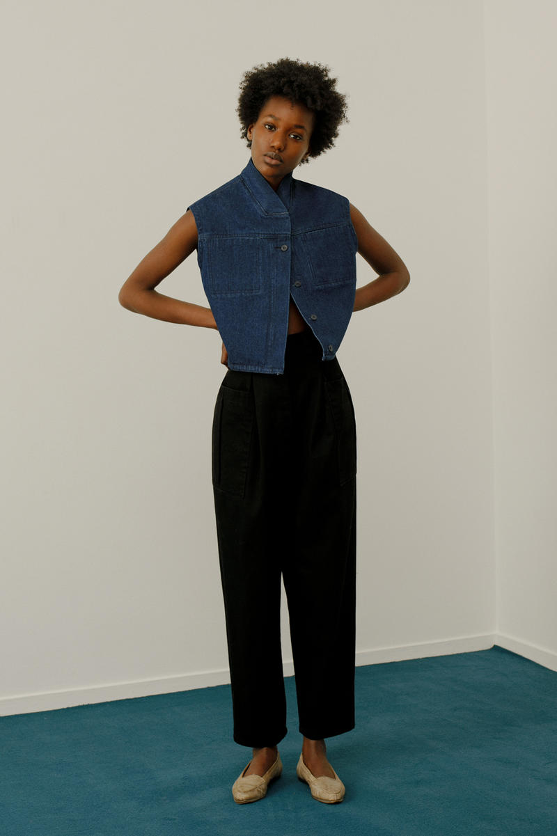 13 bonaparte le denim lookbook french label collars zippers
