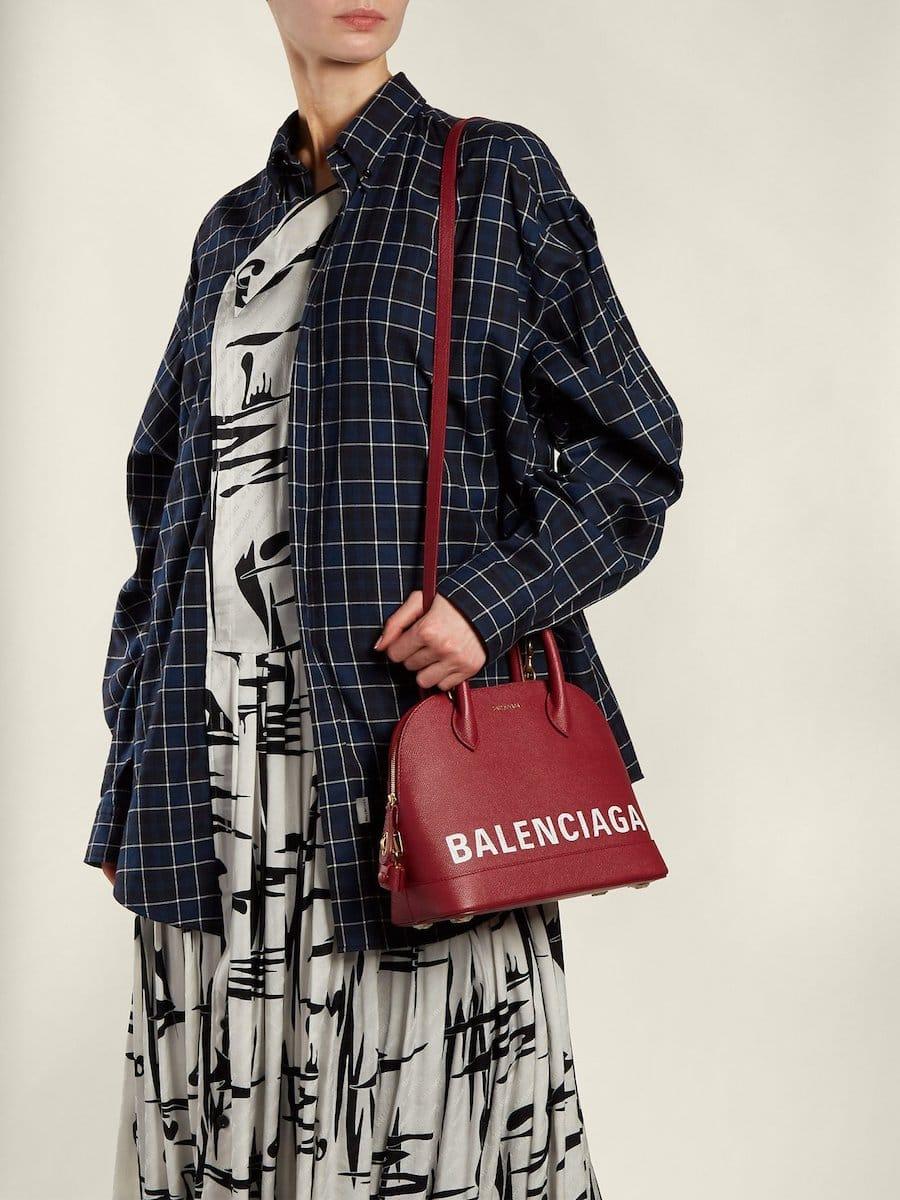 Balenciaga Releases Burgundy Ville S