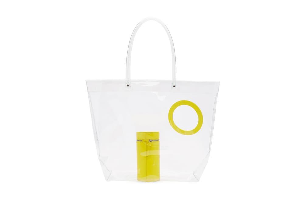 Building Block SSENSE Collaboration Peephole PVC Tote Yellow bag plastic transparent