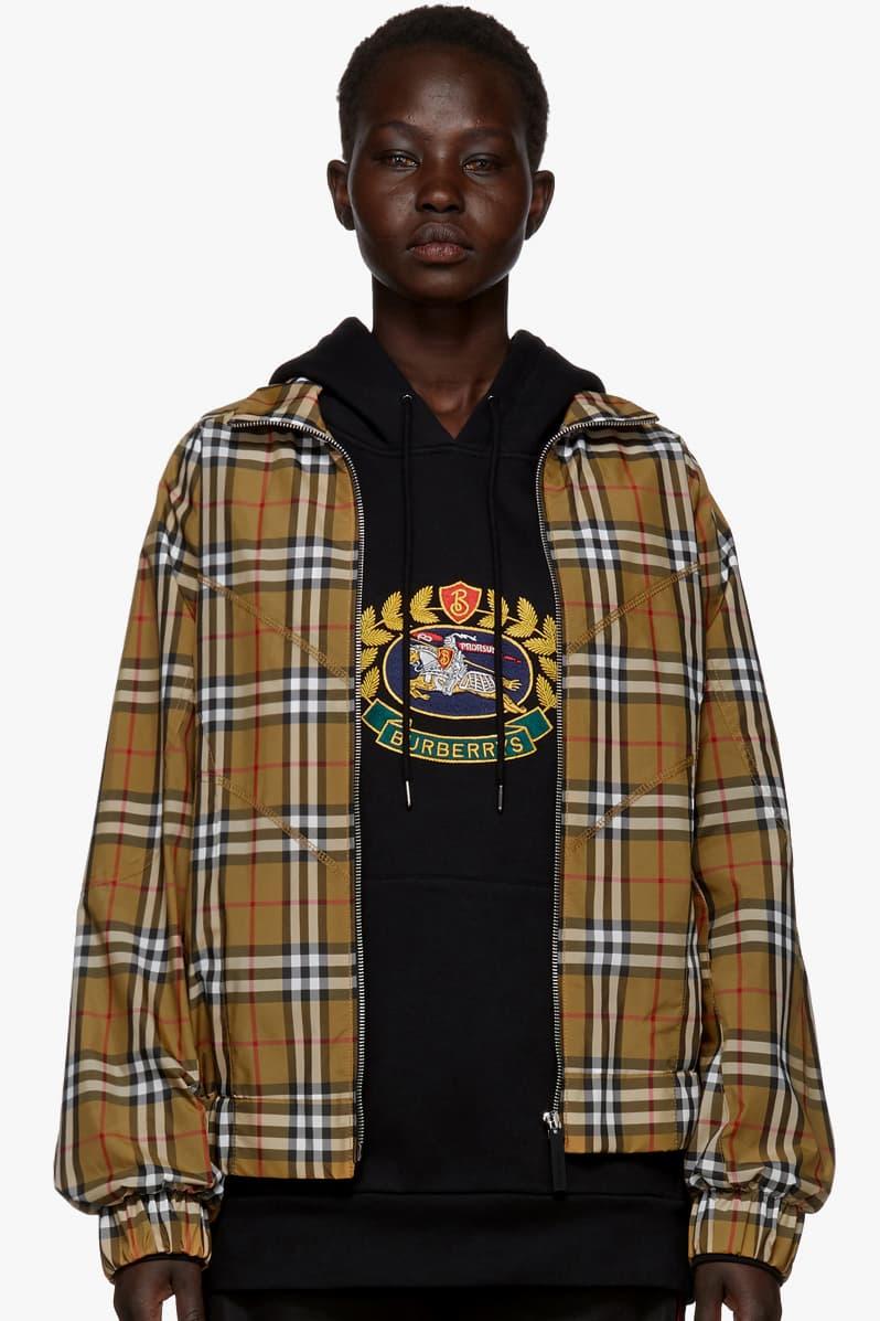 Burberry Plaid Oversized Shirt Bomber Jacket Short Sleeve Shirt Shorts