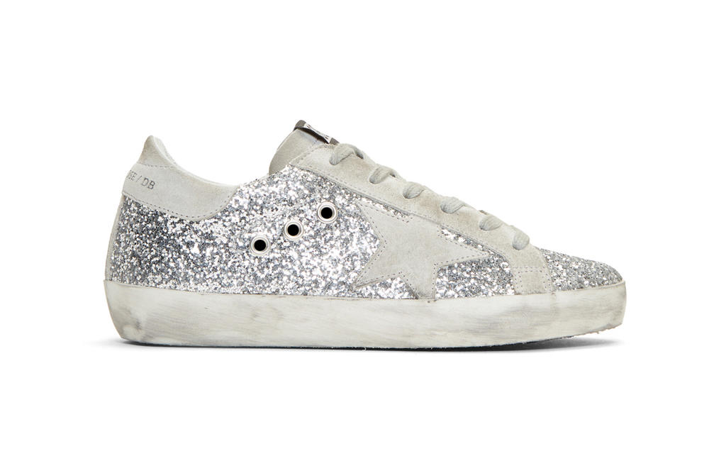 d6e99ff06b21 Golden Goose Exclusive Superstar Sneakers Silver   Grey