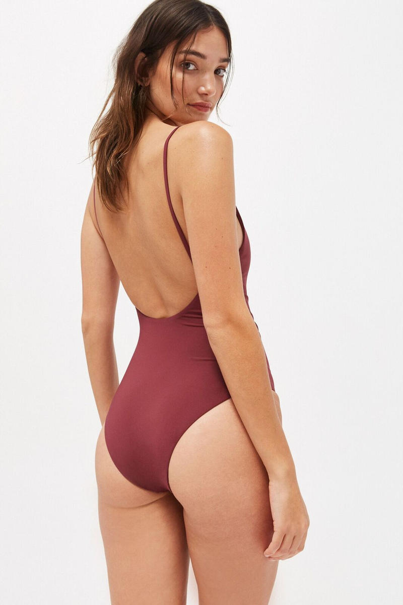 LACAUSA Ethical Swimwear Collection Flamingo Sangria Tar