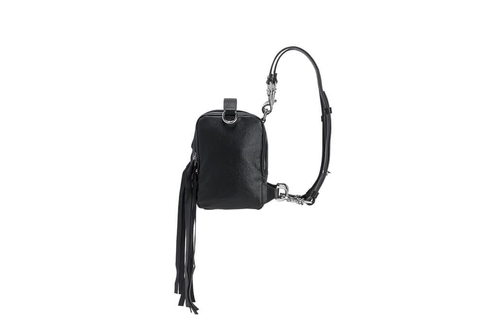 McQ Black Lambskin Leather Mini Convertible Box Bag Sleek Chic