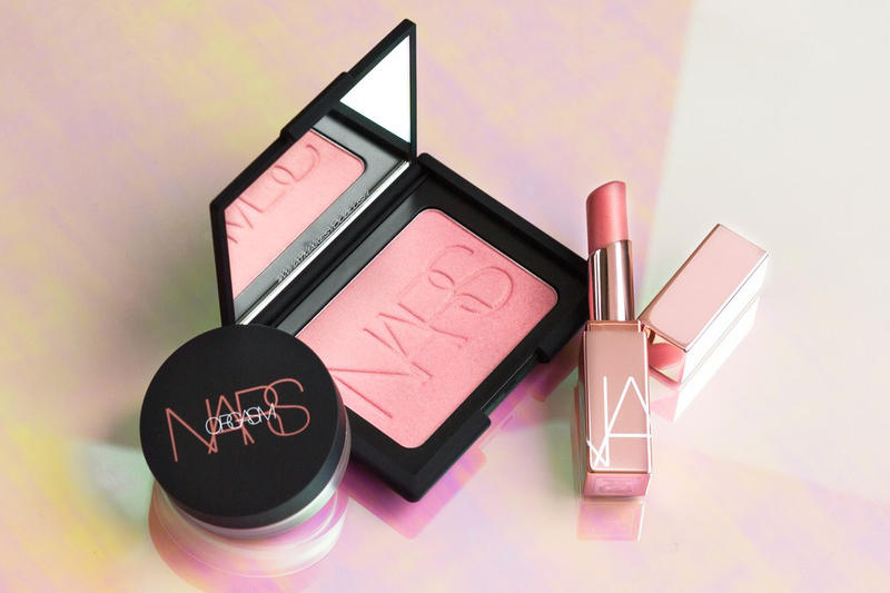 Nars Three-Piece Orgasm Collection Afterglow Lip Balm Illuminating Loose Powder