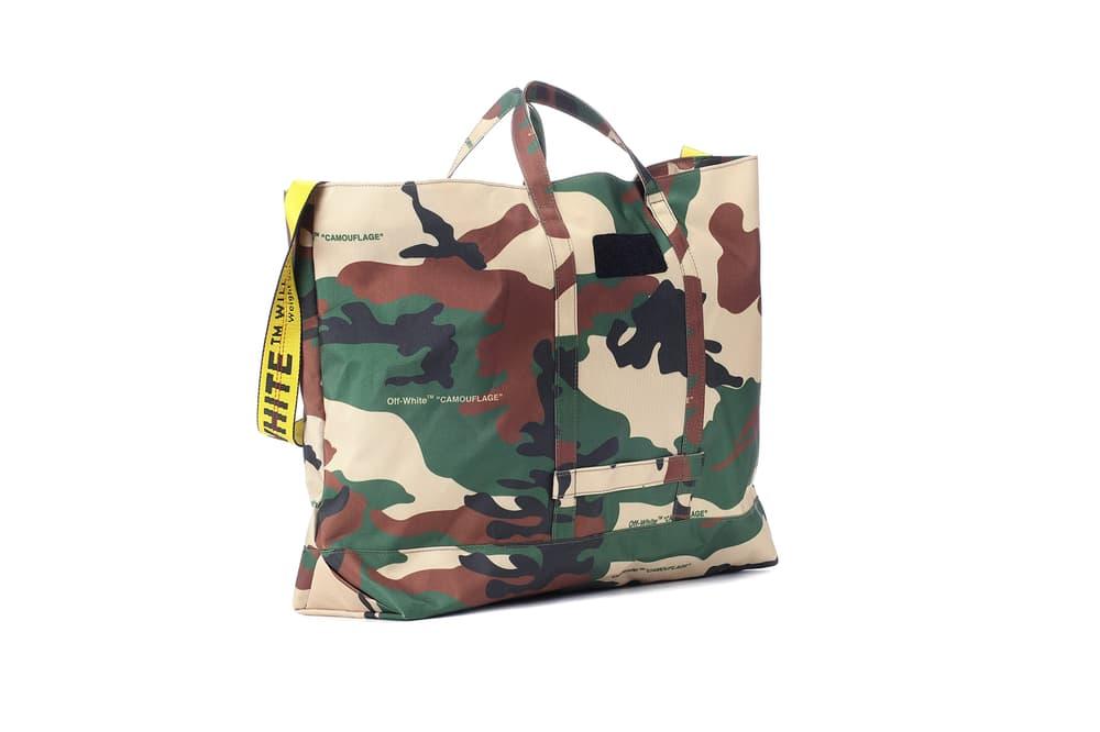 The Off-White™ Camouflage Shopper Bag Virgil Abloh Tote Shopper