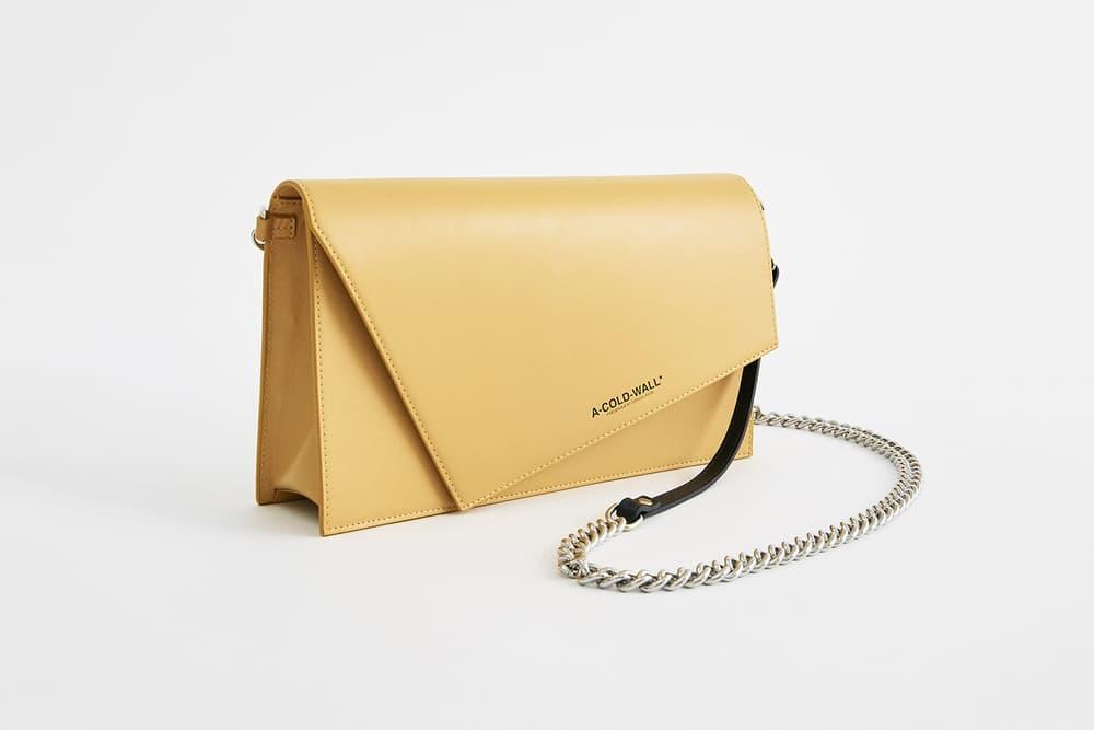 a cold wall samuel ross yellow corbusier clutch handbag purse wallet accessory