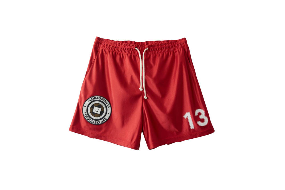 Acne Studios Fotbollsklubb Football Shorts Red