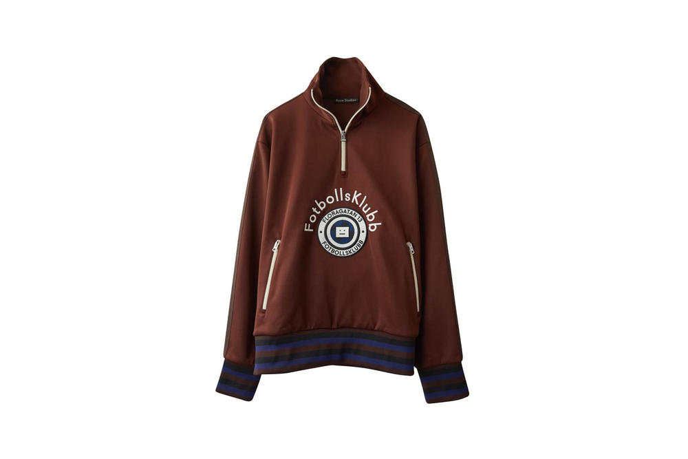 Acne Studios Fotbollsklubb Football Sweatshirt Brown