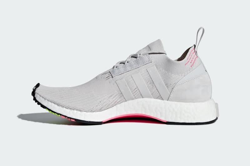 adidas Originals NMD Racer Primeknit White Orange Grey Pink Green Sneakers