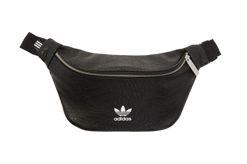 adidas Originals Faux Leather Logo Fanny Pack Black