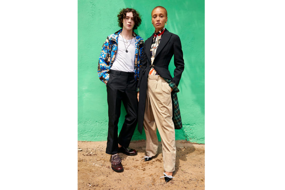 Adwoa Aboah for Burberry shot by Juergen Teller Ghana Family Portrait Nova Check Campaign Series