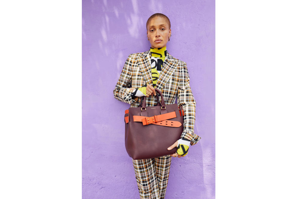Adwoa Aboah for Burberry shot by Juergen Teller Ghana Family Portrait Nova Check Campaign Series