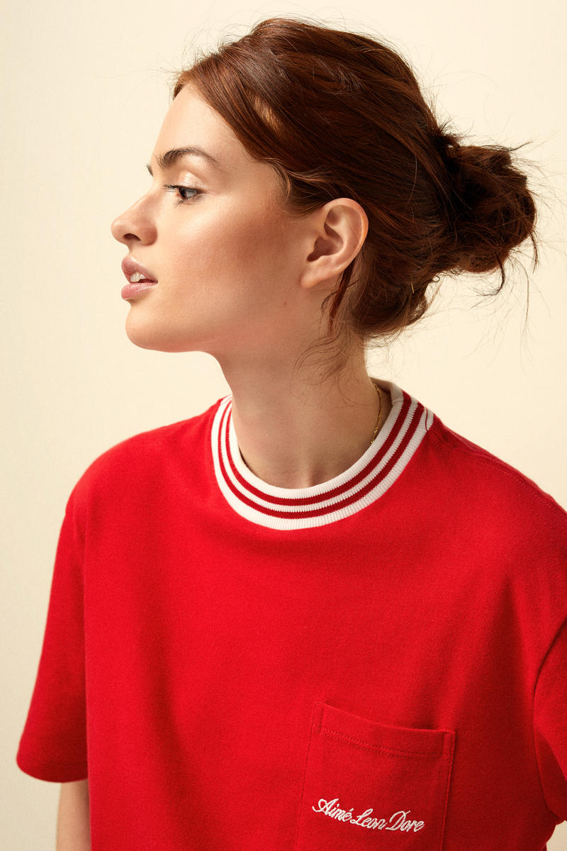 Aimé Leon Dore Spring/Summer 2018 Collection Editorial T-Shirt Red White