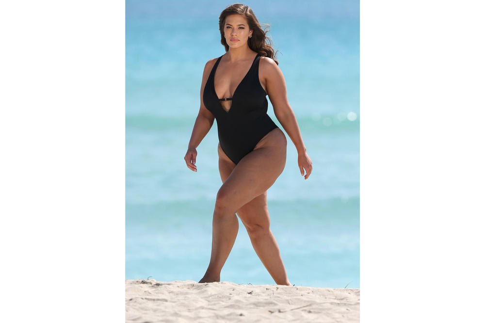 Ashley Graham x Swimsuits for All Power of the Paparazzi Campaign Dolled Up Black