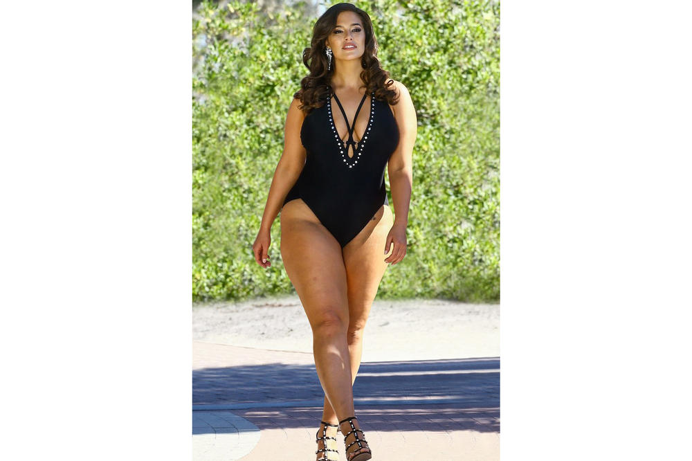 Ashley Graham x Swimsuits for All Power of the Paparazzi Campaign Flapper Black