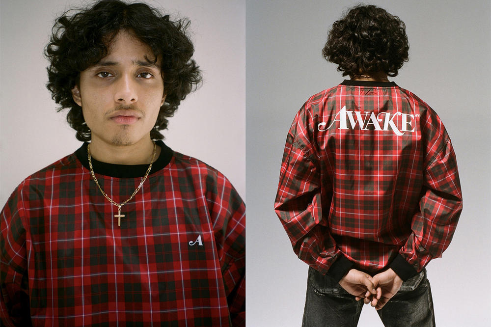 Awake NY Spring/Summer 2018 Collection Lookbook Plaid Sweater Red Black