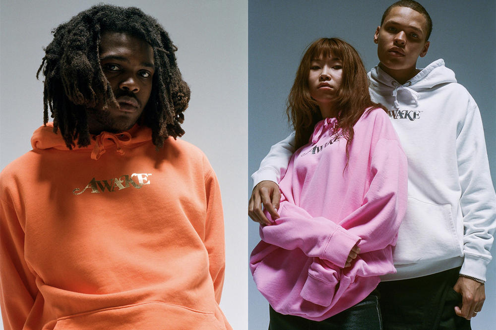 Awake NY Spring/Summer 2018 Collection Lookbook Hoodies Orange Pink White