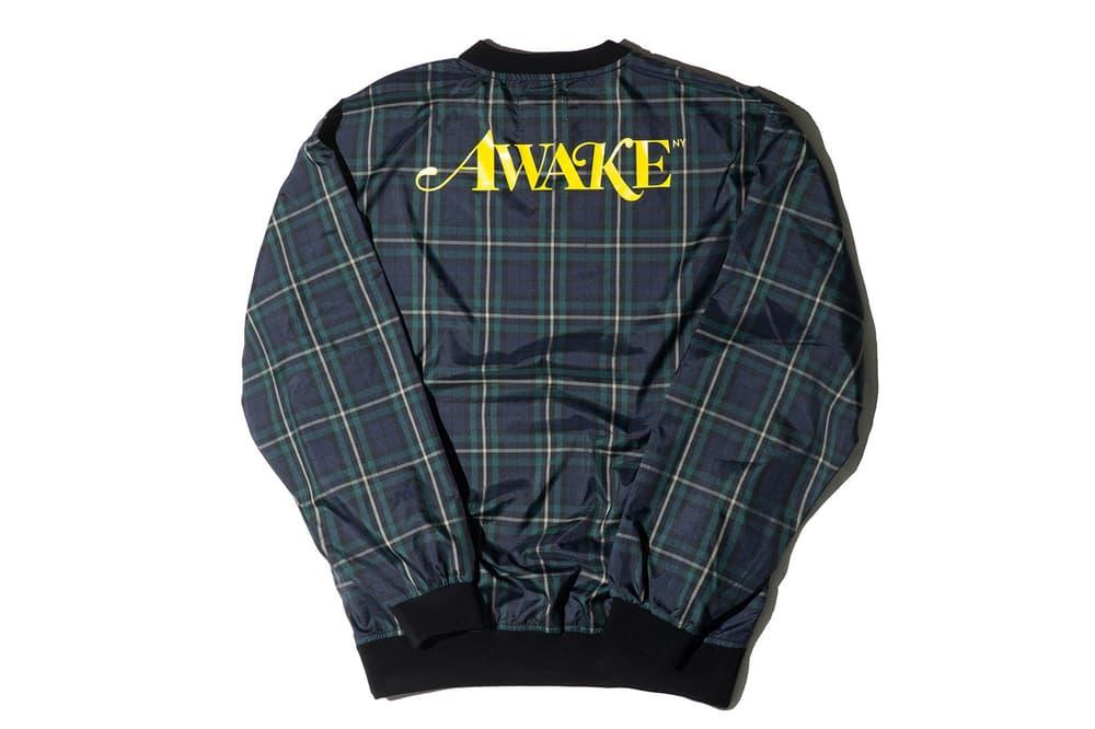 Awake NY Spring/Summer 2018 Plaid Windbreaker Pullover Jacket Navy