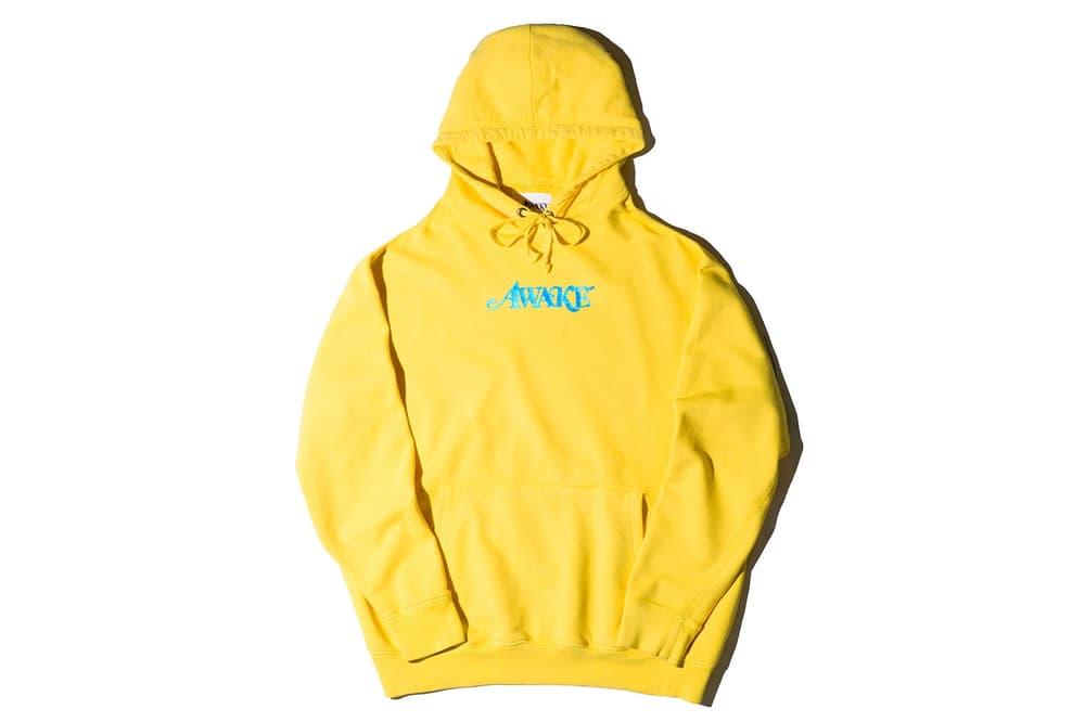 Awake NY Spring/Summer 2018 Metallic Foil Logo Hoodie Yellow