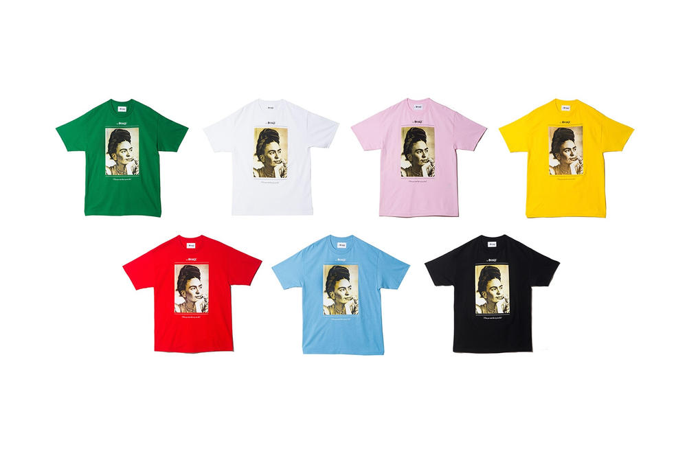 Awake NY Spring/Summer 2018 Frida Tee Green White Pink Yellow Red Pacific Blue Black