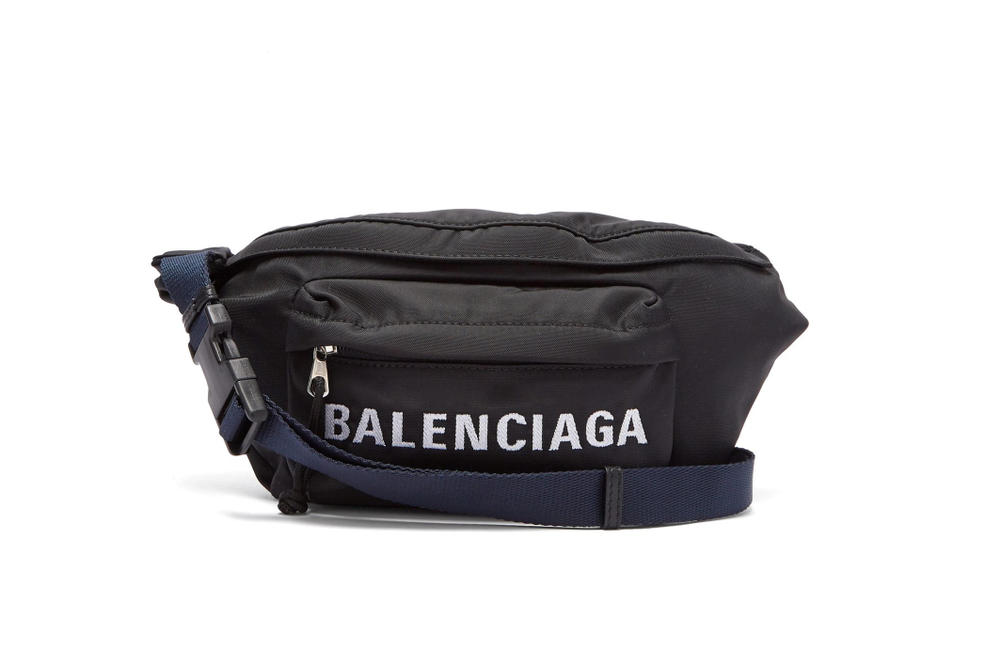 Shop Balenciaga's New Logo Fanny Pack Bag Pouch Crossbody Cross Body Retro Bold Demna Gvasalia