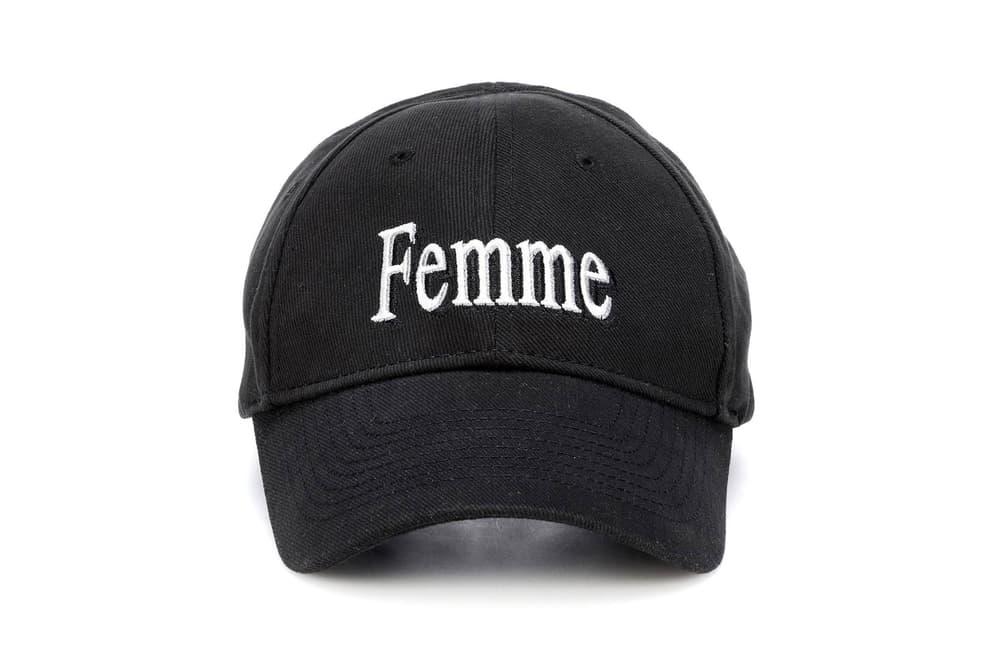 Balenciaga Femme Baseball Cap Dad Hat Black