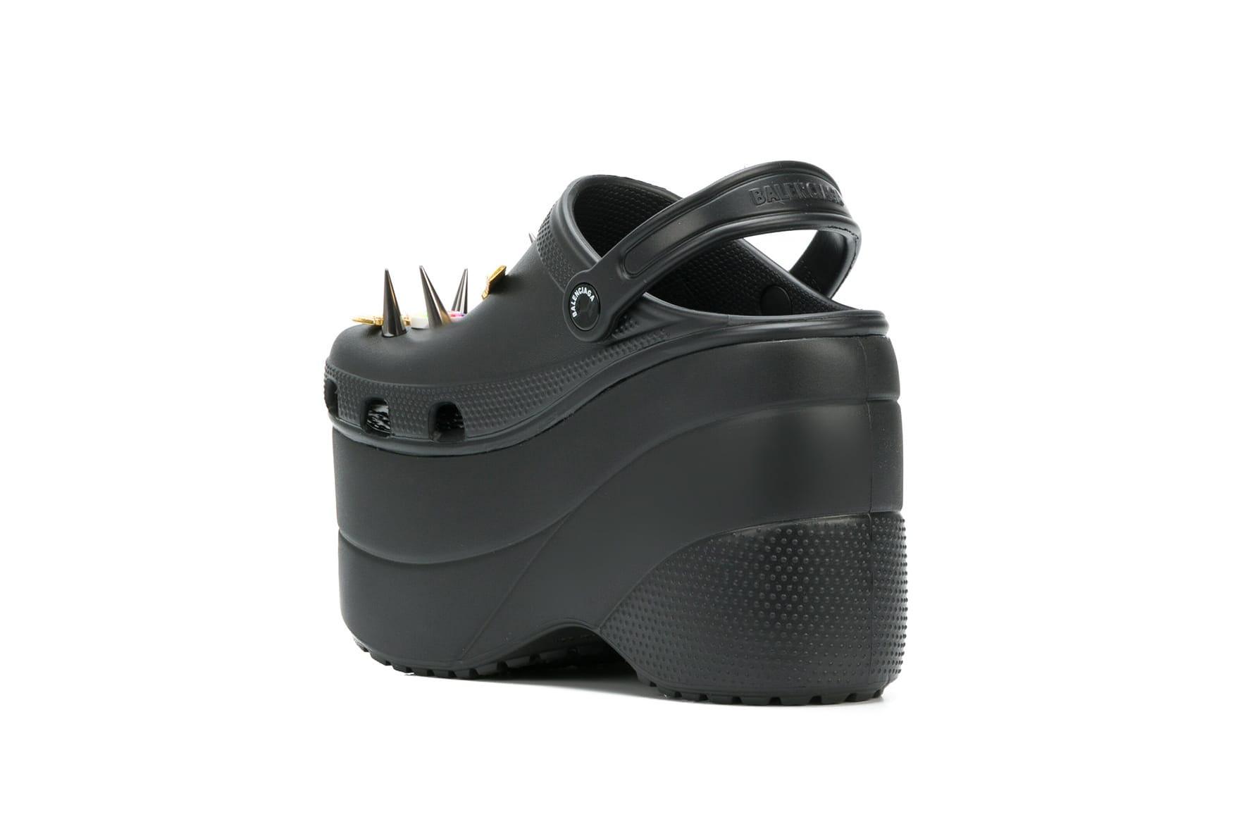 Shop Balenciaga's Black Platform Crocs