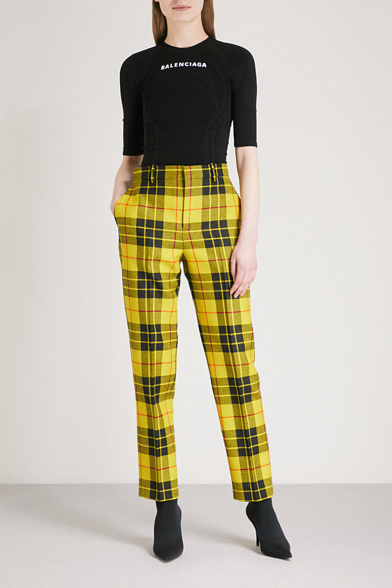 Balenciaga '90s Yellow Plaid Pants Cher Horowitz Clueless