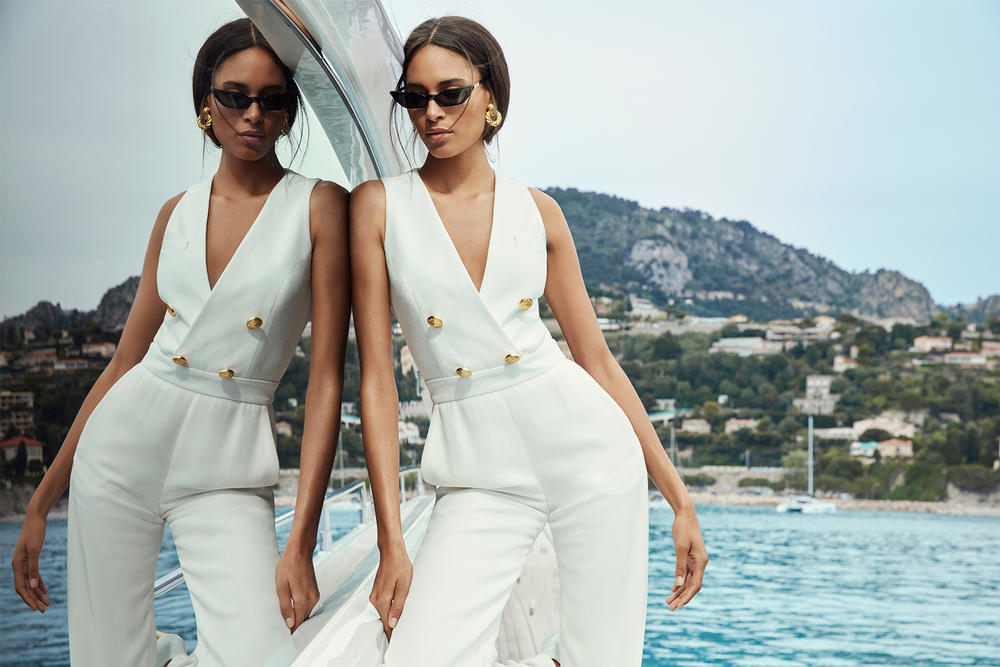 balmain olivier rousteing exclusive high summer capsule collection netaporter net-a-porter cannes st tropez